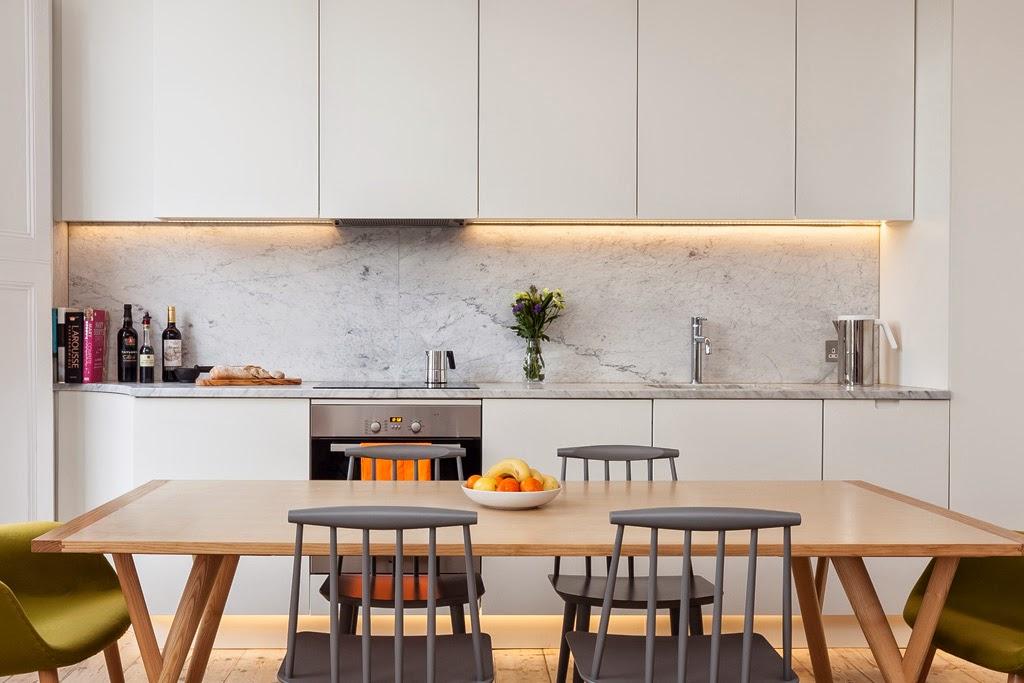 Credence marbre blanc - Idée pour cuisine