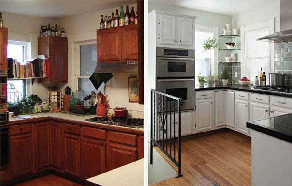 Renovation d une cuisine rustique id e pour cuisine - Photo maison renovee avant apres ...