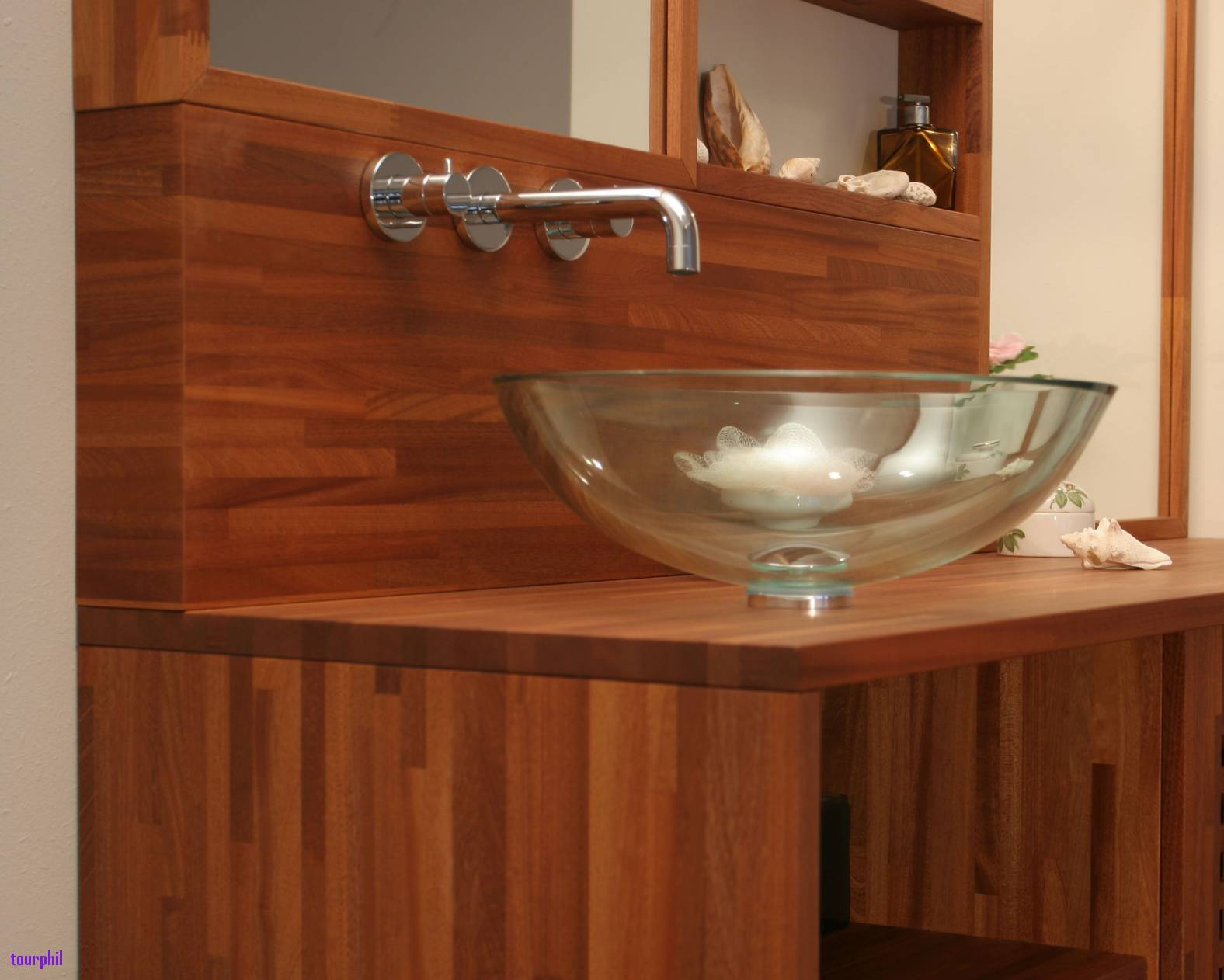 Credence bois salle de bain id e pour cuisine - Credence salle de bain ikea ...