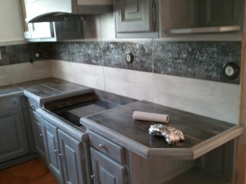 Renovation cuisine en gris