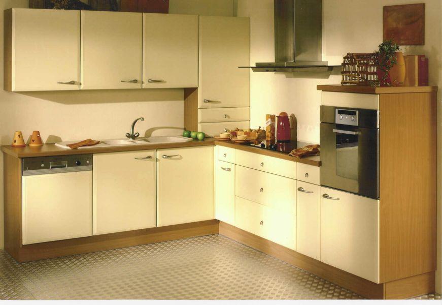 Meuble cuisine jaune pale - Idée pour cuisine