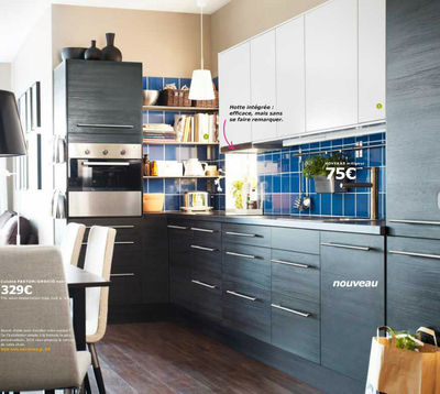 Meuble Cuisine Ikea Noir Idée Pour Cuisine