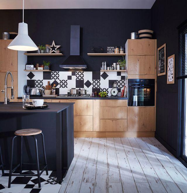 Meuble Cuisine Leroy Merlin Noir Mat Idée Pour Cuisine