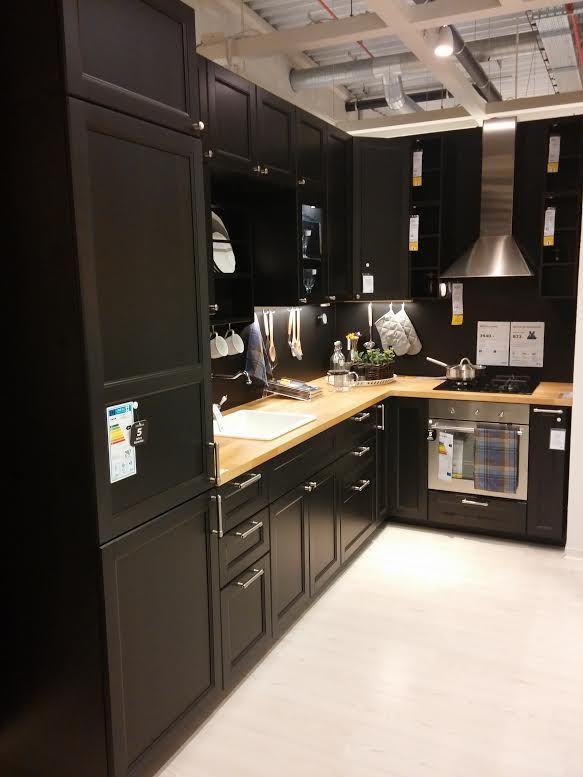 Ikea porte meuble cuisine noir