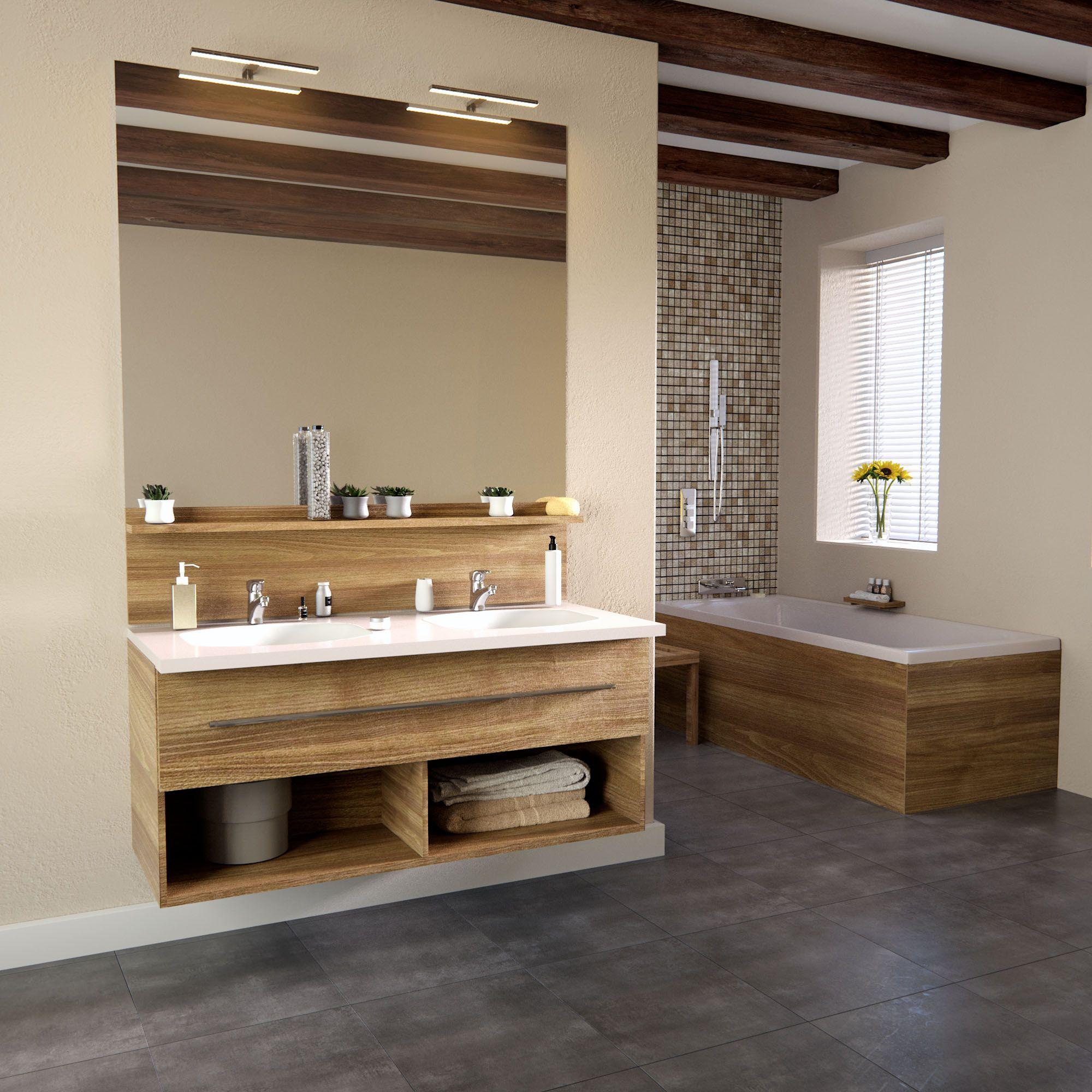 credence salle de bain bois id e pour cuisine. Black Bedroom Furniture Sets. Home Design Ideas