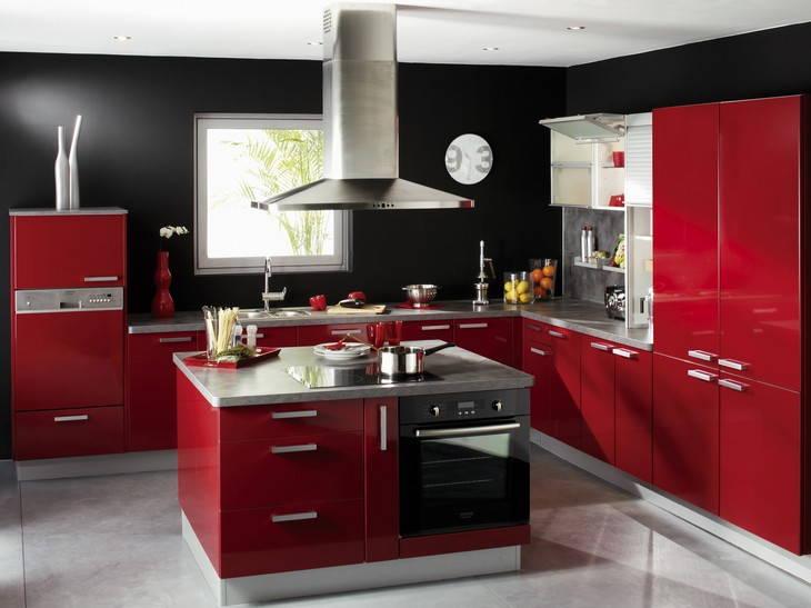 Meuble Cuisine Rouge Leroy Merlin Idee Pour Cuisine