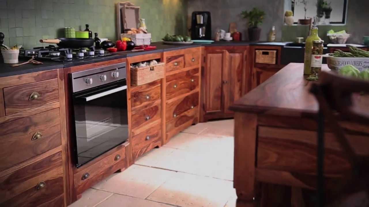 maison du monde cuisine en bois de palissandre