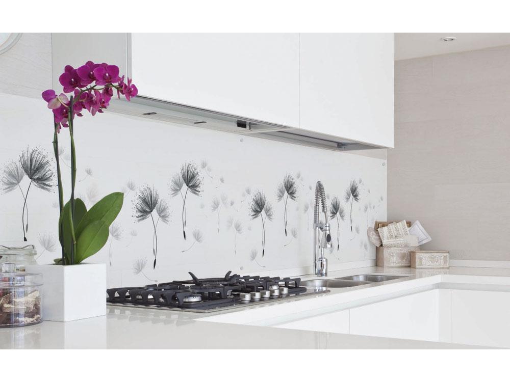 credence cuisine fleurs id e pour cuisine. Black Bedroom Furniture Sets. Home Design Ideas