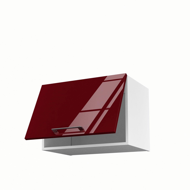 Meuble haut cuisine rouge - Idée pour cuisine