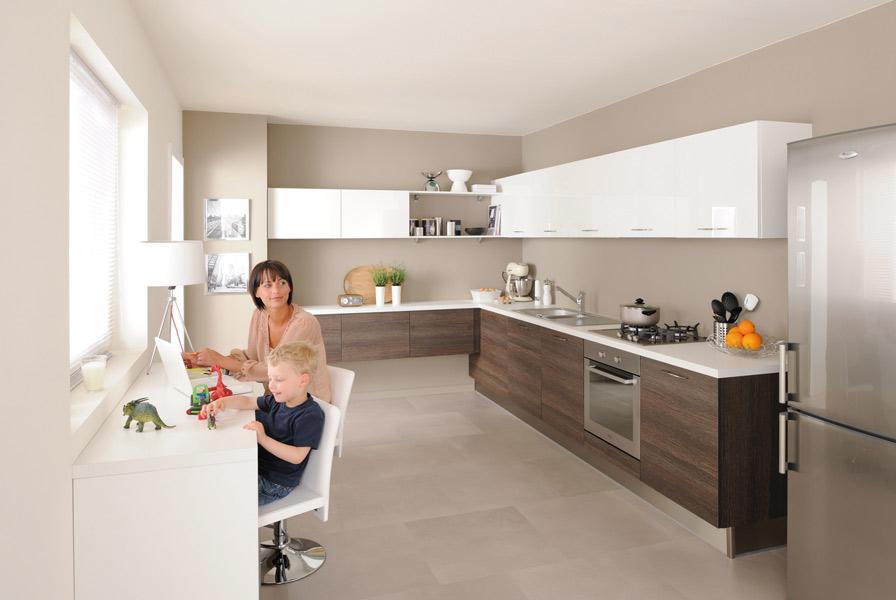 Emejing Cuisine Gris Sable Images - House Design - marcomilone.com