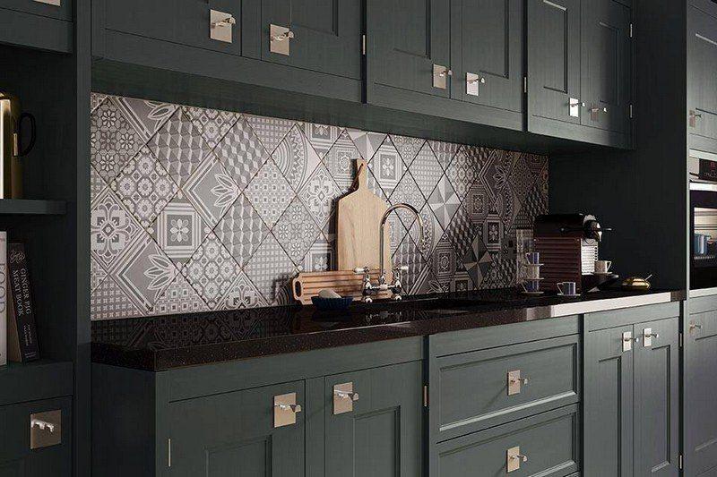cr dence cuisine style carreaux de ciment id e pour cuisine. Black Bedroom Furniture Sets. Home Design Ideas