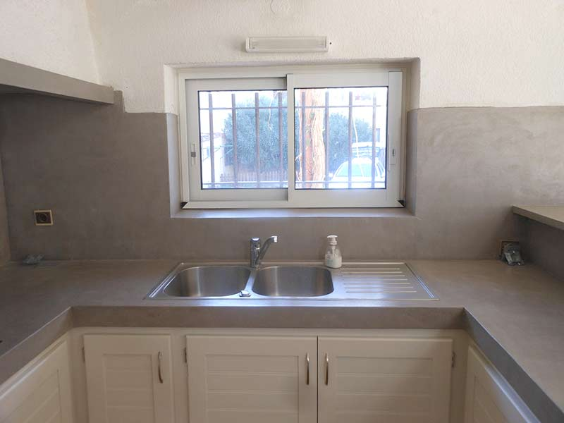 Renovation cuisine beton mineral id e pour cuisine - Credence beton cire cuisine ...