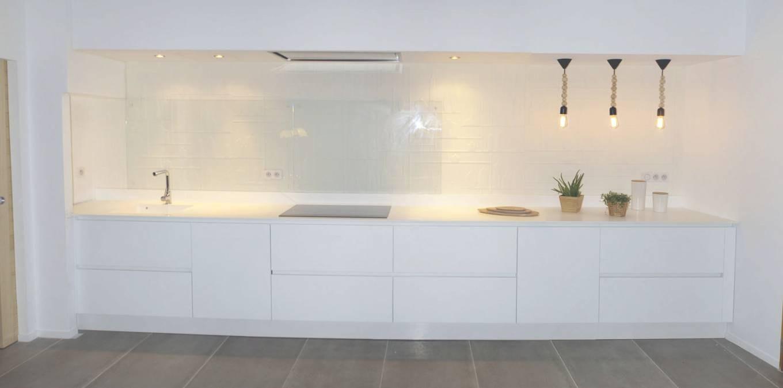 Meuble de cuisine blanc laqu id e pour cuisine - Meuble de cuisine blanc laque ...