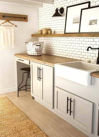 Credence cuisine metro blanc - Idée pour cuisine