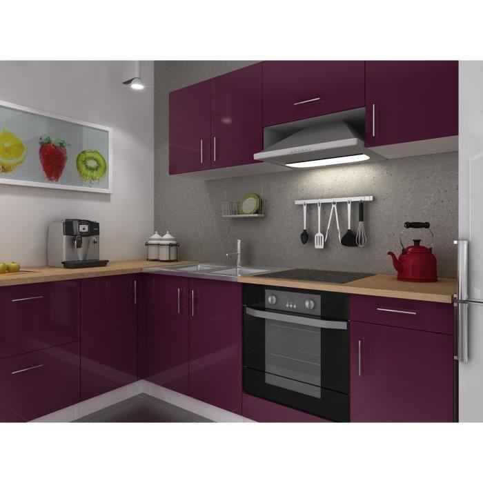 meuble de cuisine couleur aubergine id e pour cuisine. Black Bedroom Furniture Sets. Home Design Ideas