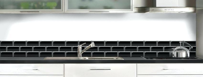 Credence imitation carrelage metro - Idée pour cuisine