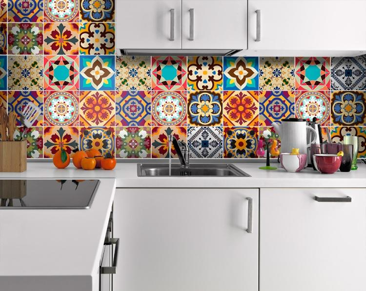 Credence carrelage multicolore - Idée pour cuisine