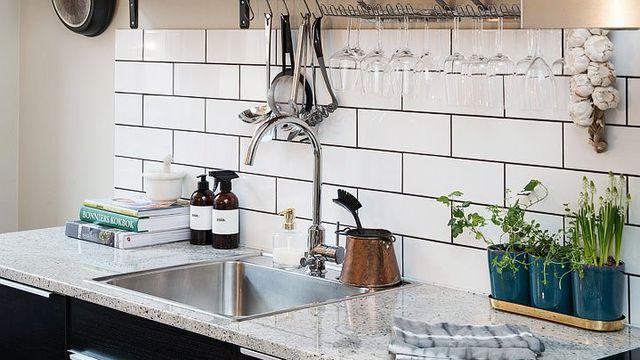 cr dence cuisine carrelage m tro id e pour cuisine. Black Bedroom Furniture Sets. Home Design Ideas