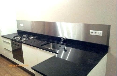 credence alu brosse sur mesure id e pour cuisine. Black Bedroom Furniture Sets. Home Design Ideas