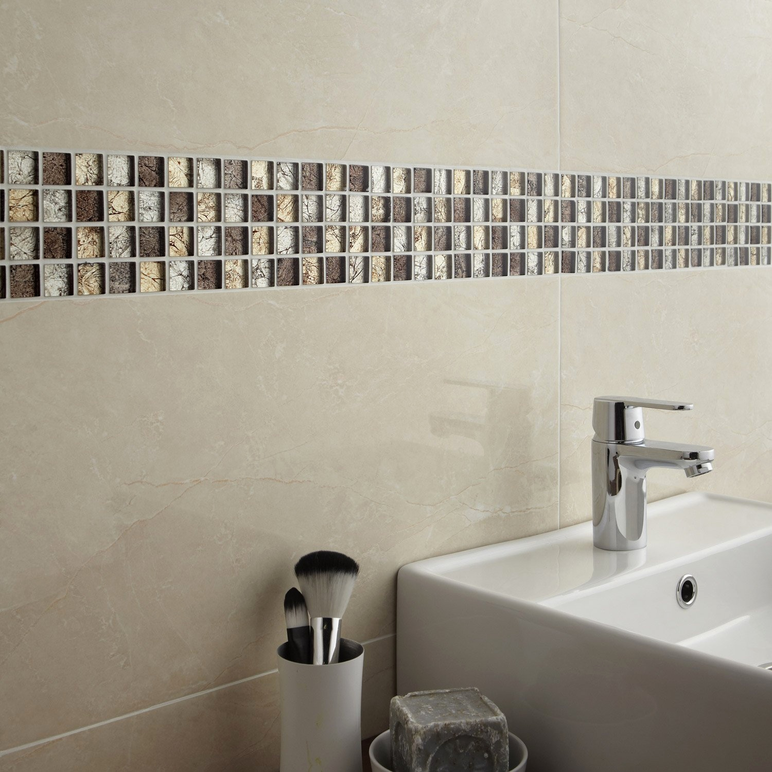 Stunning Mosaique Salle De Bain Adhesive Gallery - House ...