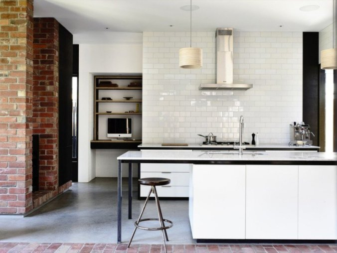Beautiful Faience Cuisine Brique Blanche Contemporary - House Design ...