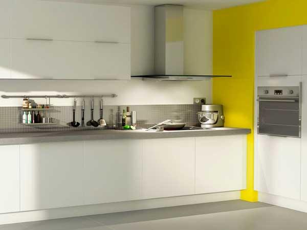 Meuble cuisine jaune clair - Idée pour cuisine