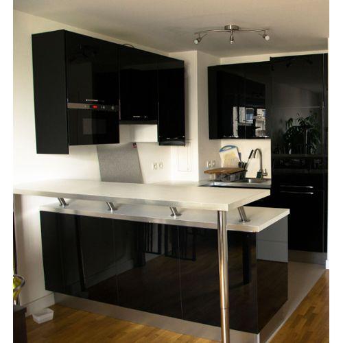 meuble cuisine complete noir pas cher id e pour cuisine. Black Bedroom Furniture Sets. Home Design Ideas