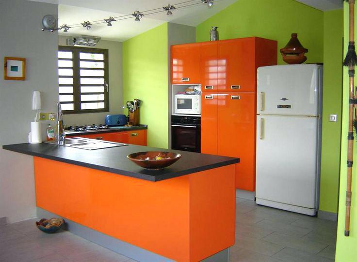 Meuble de cuisine orange - Idée pour cuisine