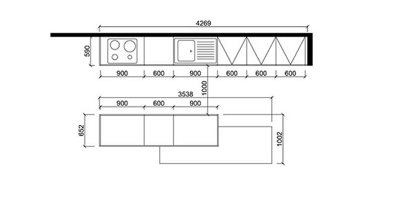 meuble de cuisine taille - Meuble Cuisine Dimension