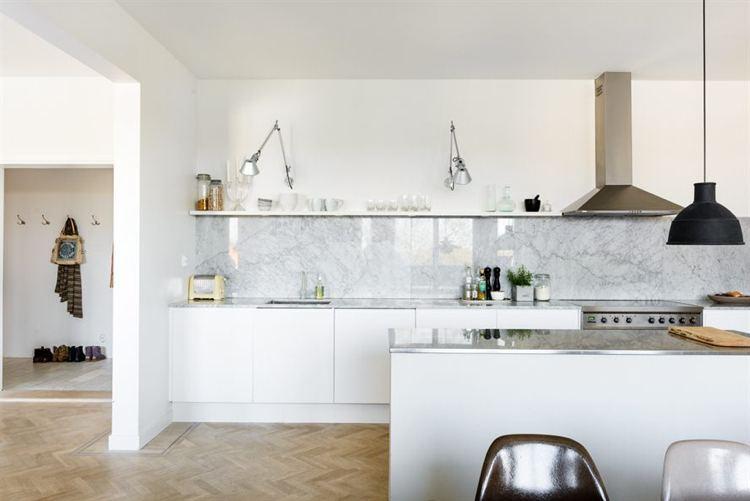 Credence cuisine marbre - Idée pour cuisine