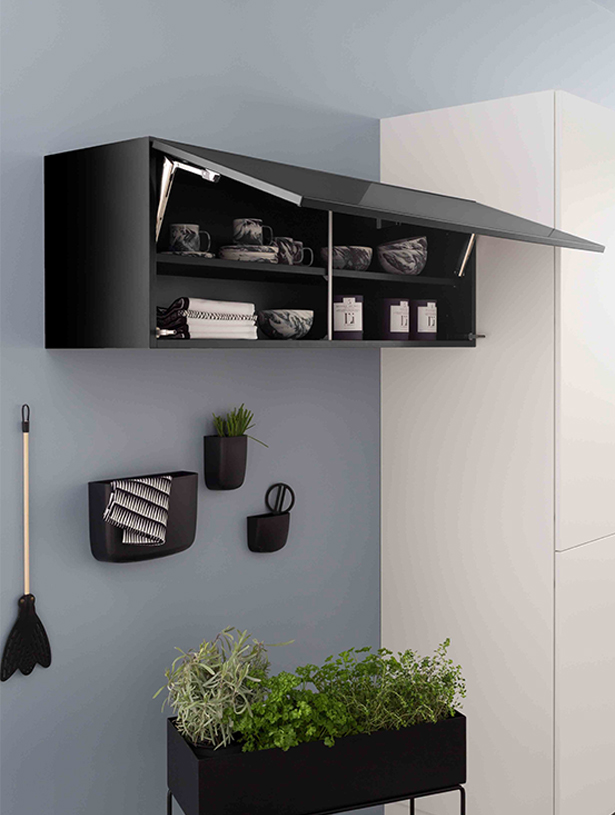 meuble haut cuisine gain de place id e pour cuisine. Black Bedroom Furniture Sets. Home Design Ideas