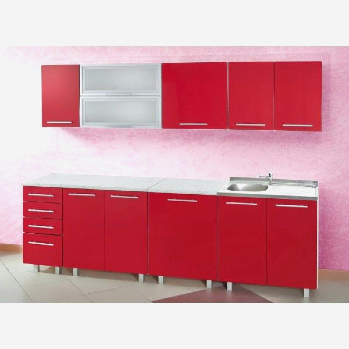 Element de cuisine rouge