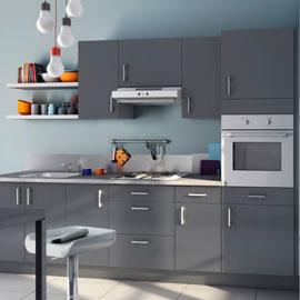 Meuble haut cuisine gris anthracite - Idée pour cuisine