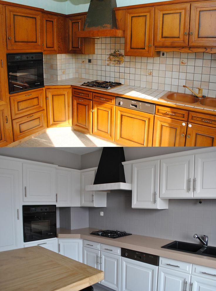 Renovation de cuisine rustique en moderne