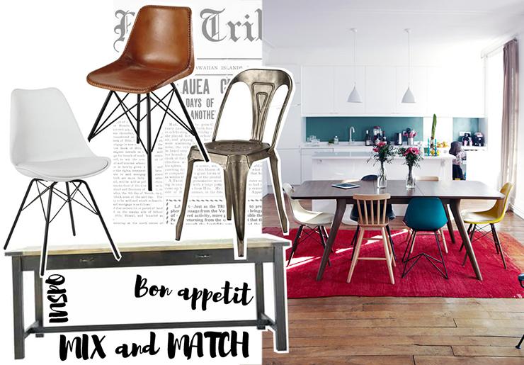 Maison du monde chaise et table - Idée pour cuisine