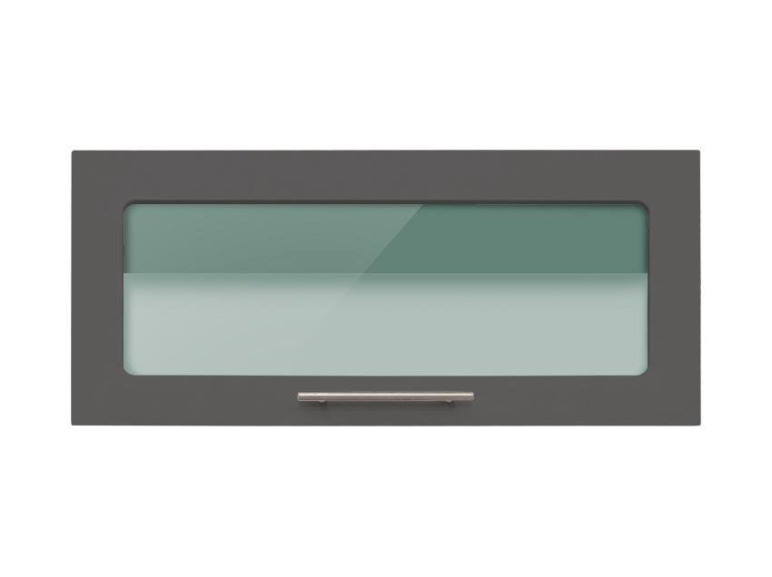 Meuble haut de cuisine vitré noir - Idée pour cuisine