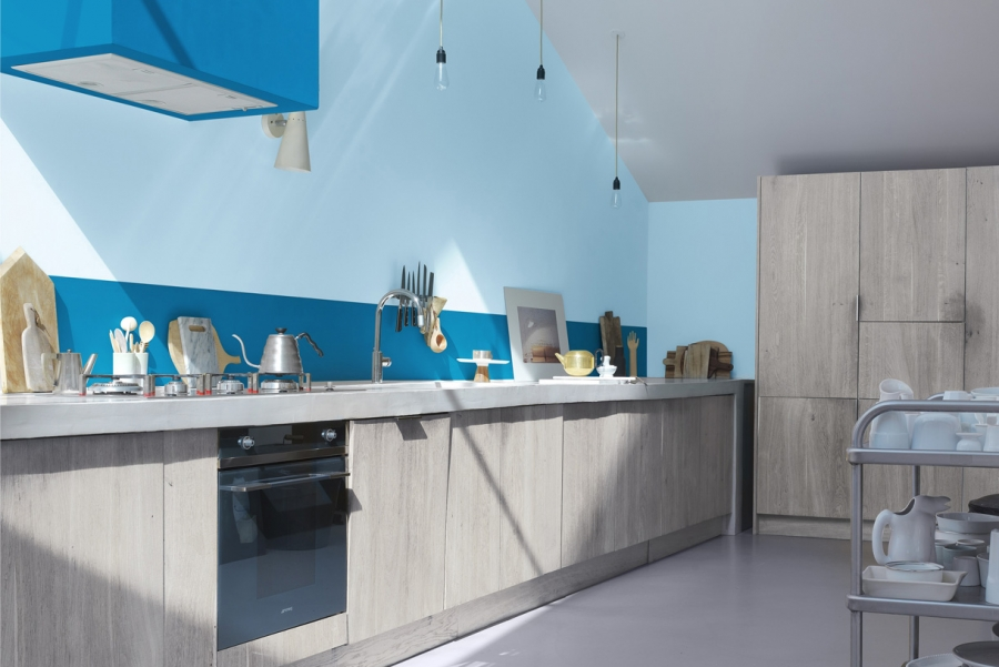 Credence Cuisine Bleu Turquoise