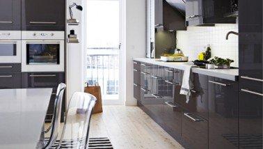 Meuble Cuisine Ikea Noir Idee Pour Cuisine