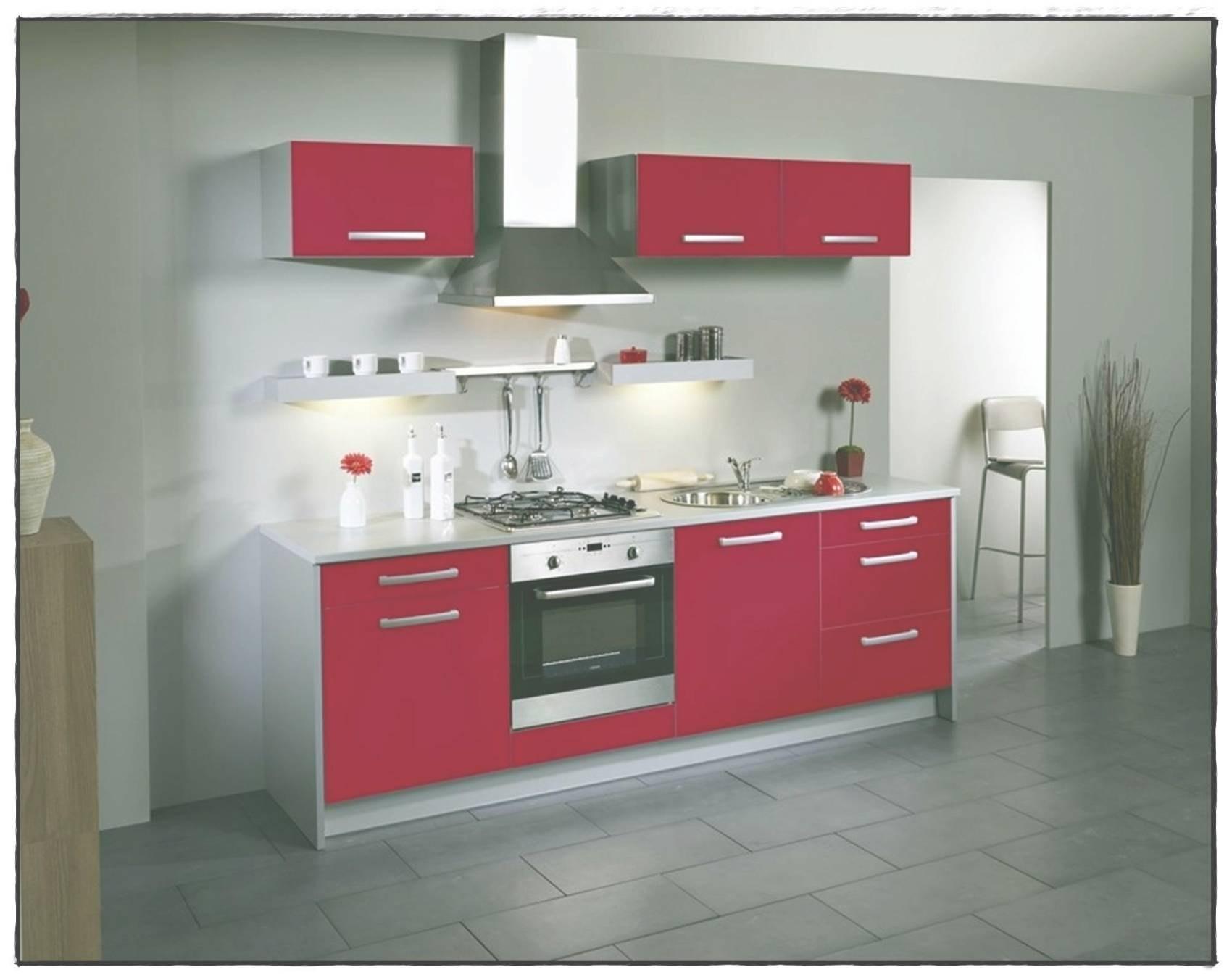 Meuble De Cuisine Rouge Brillant Idée Pour Cuisine