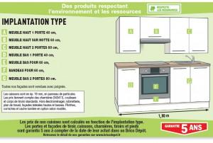 Dimension Meuble De Cuisine Brico Depot Idée Pour Cuisine