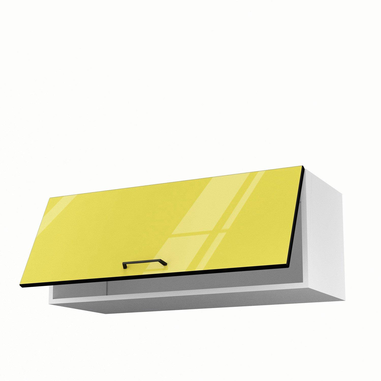 Meuble haut cuisine jaune - Idée pour cuisine