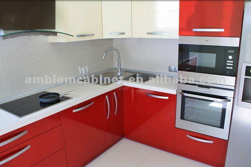 Meuble cuisine ikea rouge laqu id e pour cuisine - Cuisine rouge ikea ...