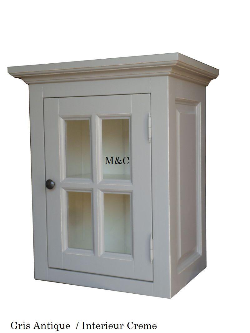 Meuble haut cuisine vitrée opaque - Idée pour cuisine