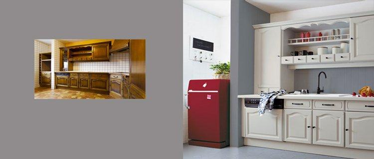 Rénovation meuble cuisine rustique
