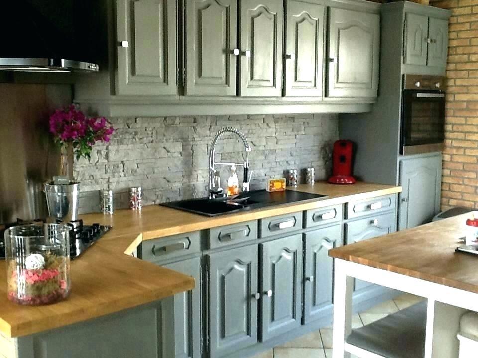 Relooker sa cuisine rustique avant apres id e pour cuisine - Relooker meuble rustique ...