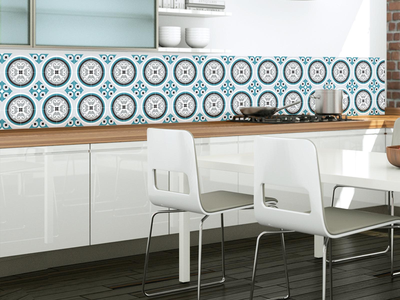 Cuisine Carreaux intérieur crédence adhésive cuisine carreaux de ciment - idée pour cuisine