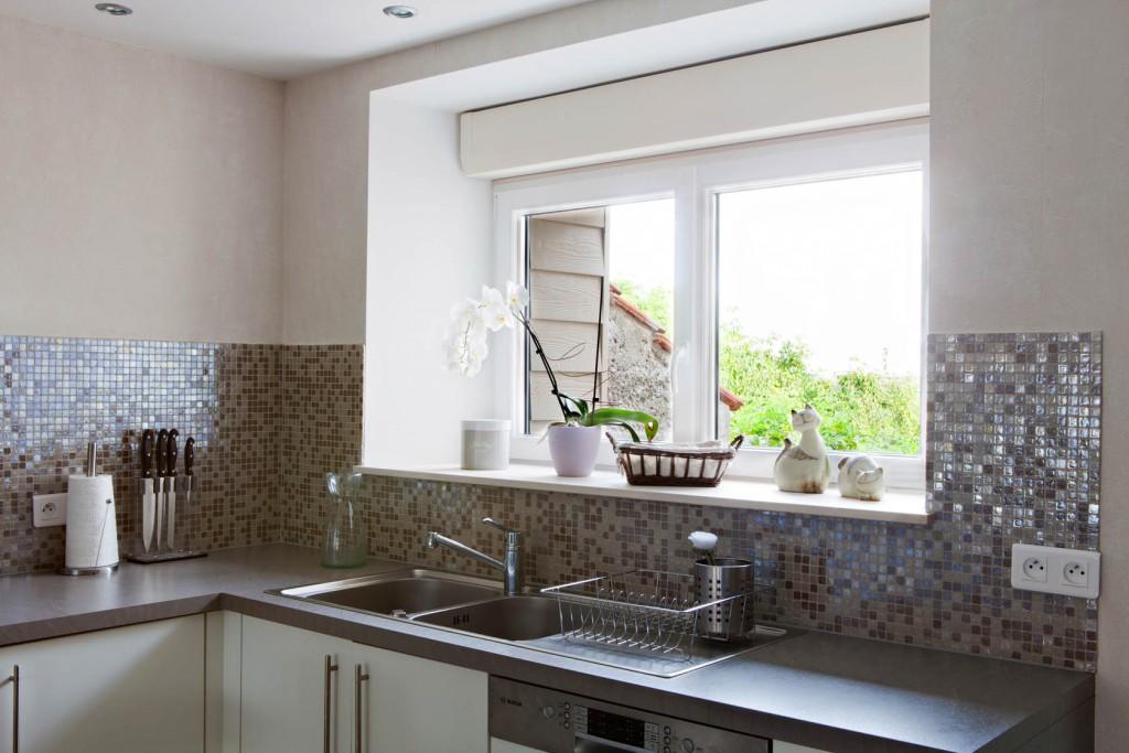 credence cuisine en mosaique id e pour cuisine. Black Bedroom Furniture Sets. Home Design Ideas