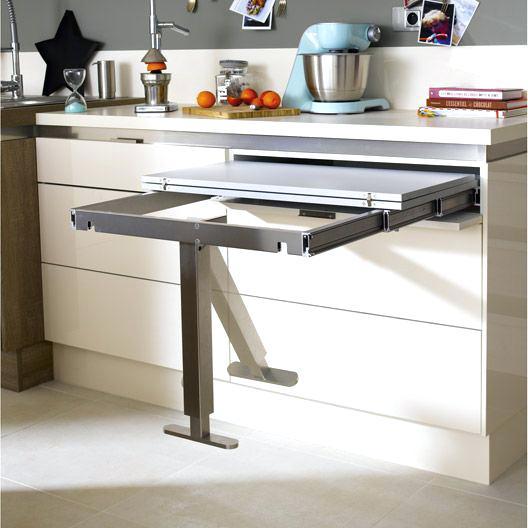Meuble cuisine table rabattable id e pour cuisine - Table retractable cuisine ...