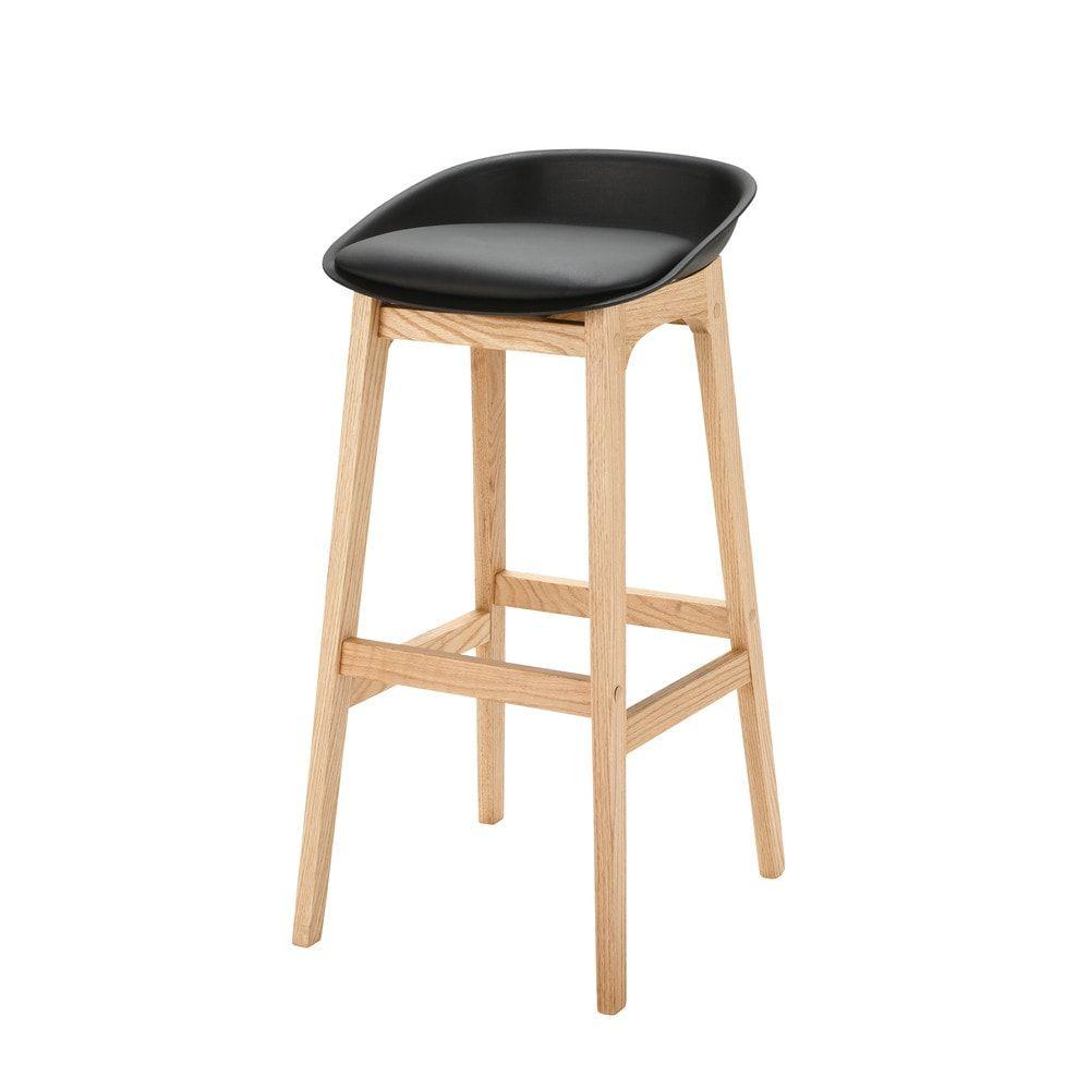 chaise de bar seattle noir maison du monde